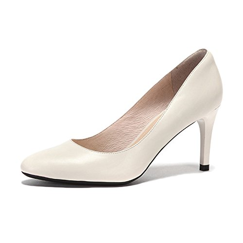 Hauts Peau Party Mode 35 en De Mouton Cour Sexy Nightclub De Beige Noir UK 3 Confortables Travail Femme Talons Chaussures Chaussures WeddingDaphne 8cm EU 5qwaxPcf