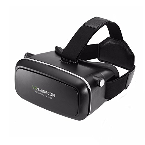 TrendBox VR Virtual Reality Box 3D Glasses Headset Adjustable Portable Games Animation Video Smartphones Wireless For Google IOS SAMSUNG iPhone (Wireless 3d Glasses)