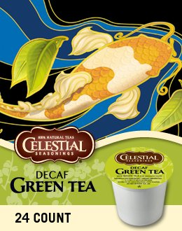 Celestial Seasonings Decaf Green Tea, K-Cup Portion Pack for Keurig Brewers (24 Count)