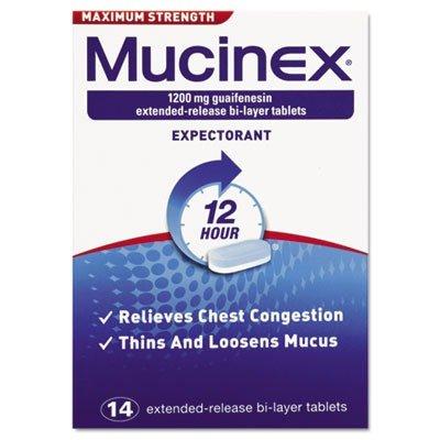 RECKITT BENCKISER PROFESSIONAL 2314 Max Strength Expectorant, 14 Tablets/Box