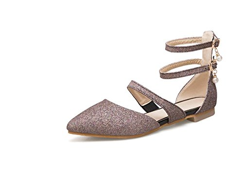 Shoes Daily Slip Pointy Women On Toe Flats Heel Believed for Low Walking Purple Office vHqZa