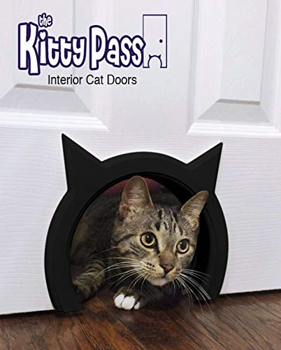 The Kitty Pass Interior Cat Door Special Midnight Edition (Black)