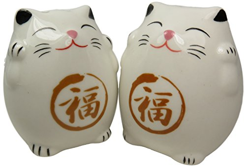 Ceramic Cat Salt and Pepper Shakers 2