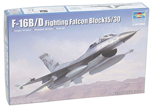 Fighting Falcon Aircraft Kit - Trumpeter F 16B/D Fighting Falcon Block 15/30 Model Kit