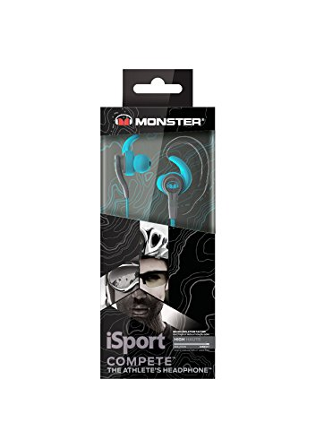 Monster 137083-00 iSport Compete In-Ear Headphones Blue