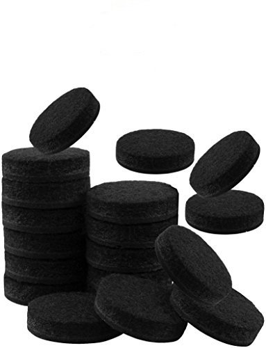 Heavy Duty Self-Adhesive Round Felt Protective Pads for Furniture Feet (Black) - 18-Count Value Pack – Best Protection for Wood Floor, Tile, Linoleum, Vinyl & Laminate Floors – Size: 1 inch