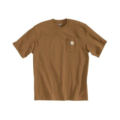 Carhartt Men's 'K87' Workwear Pocket Short-Sleeve T-Shirt , Carhartt Brown, Medium