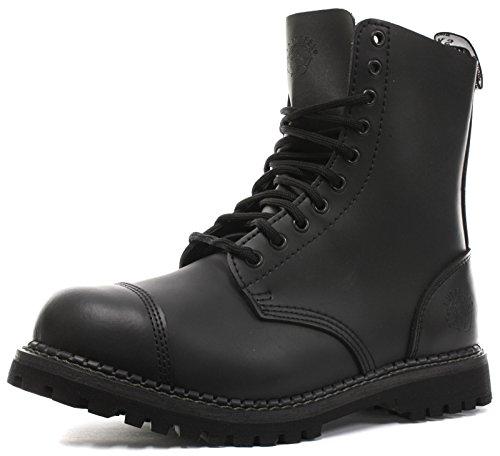 Grinders Stag 2015 Matte Finish Mens Safety Steel Toe Cap Boots, Size 12 Black (Steel Grinders Toe)