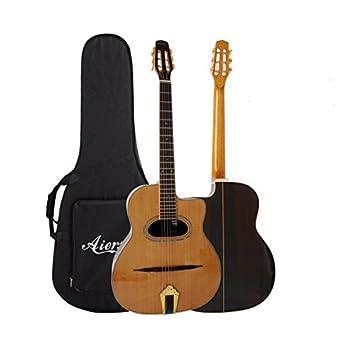 Gypsy Look Acoustic Guitar D Shape Sound Hole Aiersi Amazon Ca