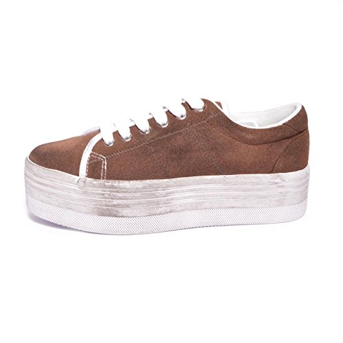 JEFFREY CAMPBELL-.ZOMG SUEDE WASH-BROWN W