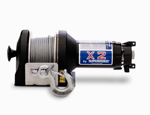 Superwinch 1208 X2F 12VDC with freewheeling feature; rated line pull of 3,000 lb/1363 kg