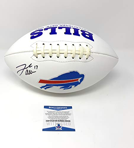 Embroidered Autograph - Josh Allen Buffalo Bills Signed Autograph Embroidered Logo Football Beckett Witnessed Certified