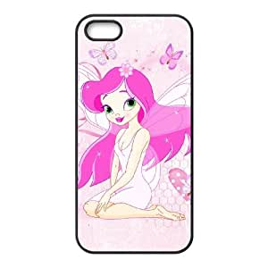 anime butterfly fairy iPhone 5 5s Cell Phone Case Black PSOC6002625729537