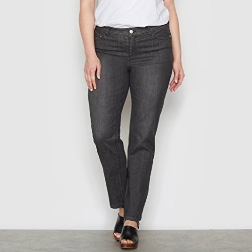 Castaluna Donna Nero Stone Regular Straight Jeans xB0FZxUw