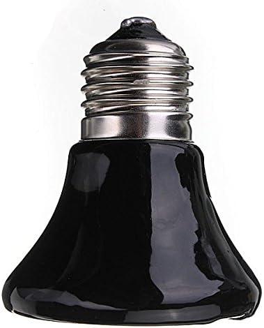 MASUNN 220V Mini Negro Cer/ámica Calor Infrarrojo Emisor L/ámpara Bombilla para Reptil Mascota Criador 25W//50W//75W//100W 25W