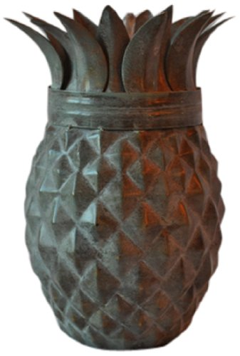 Starlite Garden and Patio Torche Pineapple Weathered Patina Tabletop Torch Decor