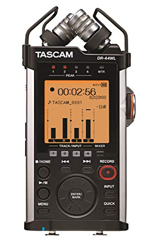 - Tascam DR-44WL Handheld Portable Audio Recorder with WiFi