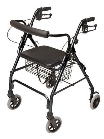 Amazon.com: Andador con ruedas Lumex Walkabout, Negro ...