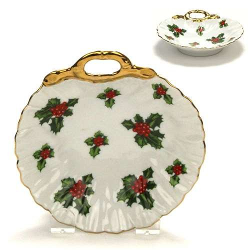 Lefton Candy - Holly by Lefton, China Bonbon Dish