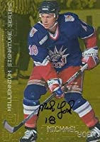 Autograph Warehouse 100873 Michael York Autographed Hockey Card New York Rangers 1999 In The Game No. 167