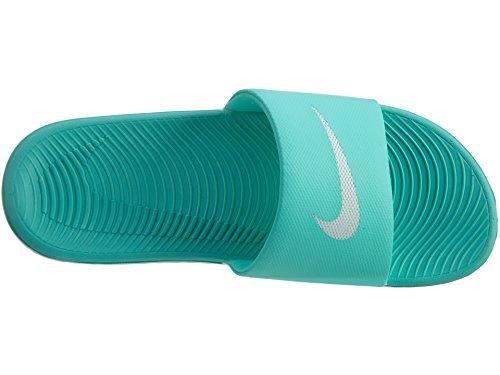 Nike Womens Kawa Sandalo Con Scivolo Iper Turchese / Bianco