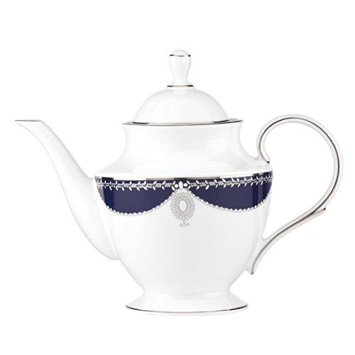 - Lenox Marchesa Empire Teapot, Pearl Indigo