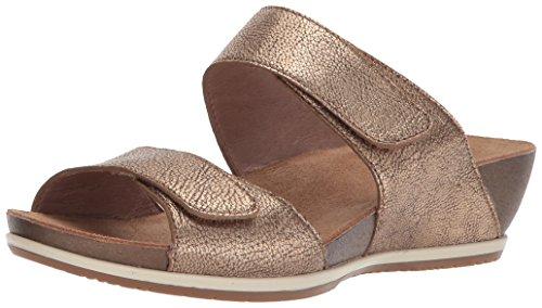 Gold Nappa Footwear - Dansko Women's Vienna Slide Sandal, Gold Nappa, 42 M EU (11.5-12 US)