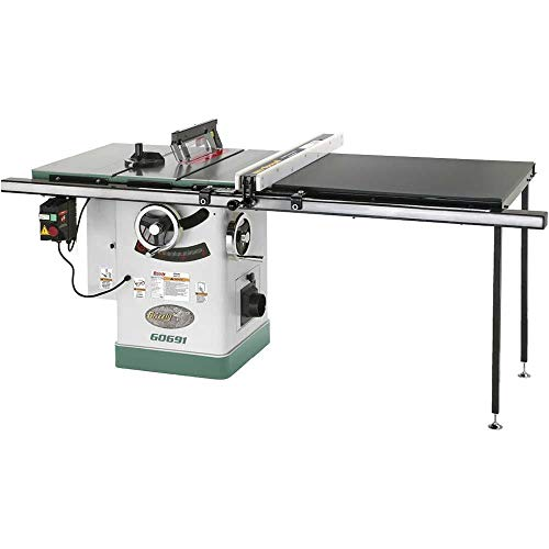 "Grizzly Industrial G0691-10"" 3HP 220V Cabinet Table Saw with Long Rails & Riving Knife"