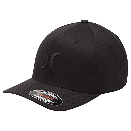 Hurley Mens One & Only Flex Fit BW Hat MHA0002190,Black,L/XL (Hurley Embroidered Hat)