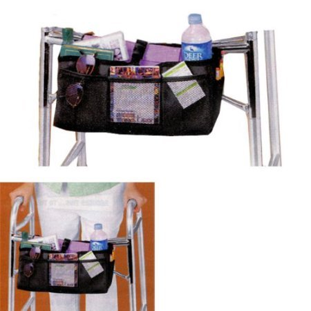 B.W. WALKER BASKET (MESH AND NYLON WITH BEVERAGE HOLDER) BY JUMBL, Bla