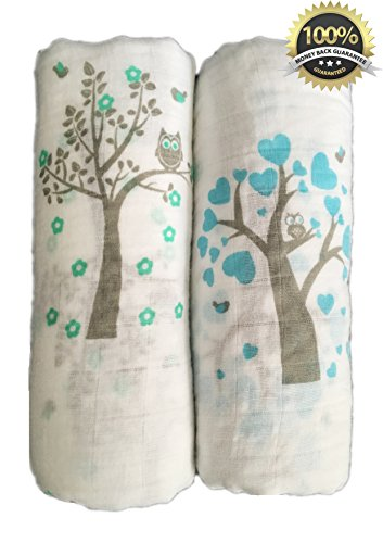 Muslin Swaddle Blankets Pack Cotton