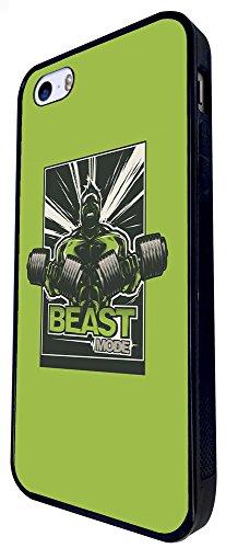747 - Beast Mode Gym Body Builder Design iphone SE - 2016 Coque Fashion Trend Case Coque Protection Cover plastique et métal - Noir