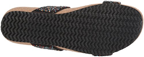 Azura Kvinna Stil Bahama Svart Multi Euro Storlek 42 Läder Slide Sandal