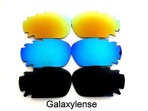 Galaxy Lentes De Repuesto Para Oakley Racing Jacket Polarizados 3 Pares,GRATIS S&H