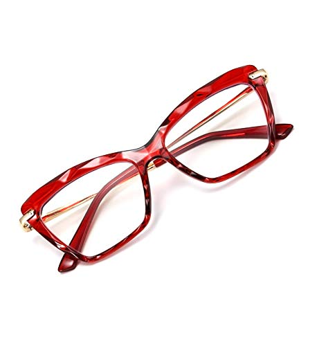 FEISEDY Crystal Cat Eye Reading Glasses Blue Light Blocking Reader Anti Eyestrain Glasses B2596