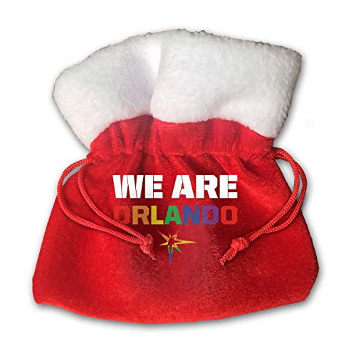 CYINO Personalized Santa Sack,We are Orlando Portable Christmas Drawstring Gift Bag (Red)