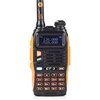 Baofeng PoFung GT-3 Mark-II Transceiver + 1 Additional Free Battery, FM Radio, Dual Band 136-174/400-520 MHz, Chipsets Upgraded, ABS Frame