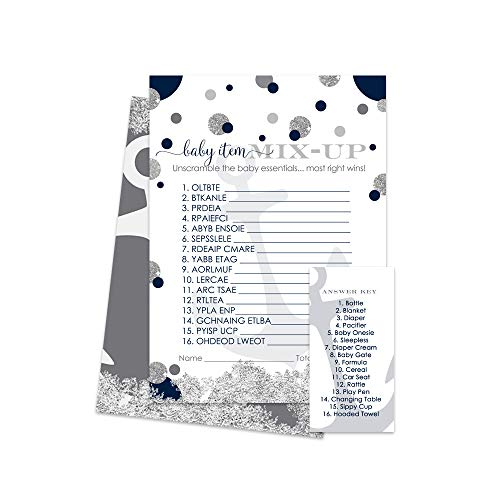 Paper Clever Party Nautical Baby Shower Word Scramble Game - 25 Pack