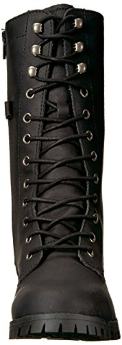 Combat up Women's Tegan Boot Calf Mid Lace Black Sugar wfZSqBnO