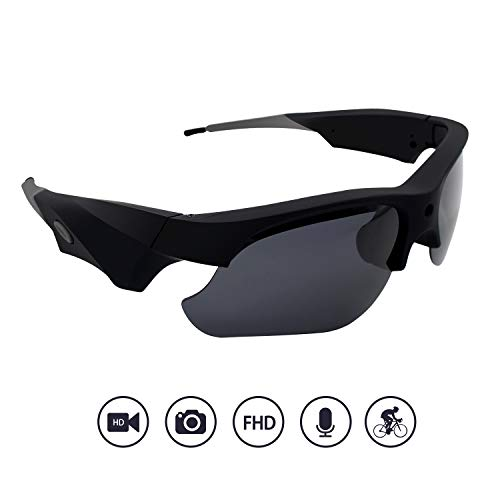 Yumfond Sunglasses Camera, Waterproof 1080p HD Video Camera With Polarized Lens, 65° Wide Angle Outdoor Sports DV Recorder
