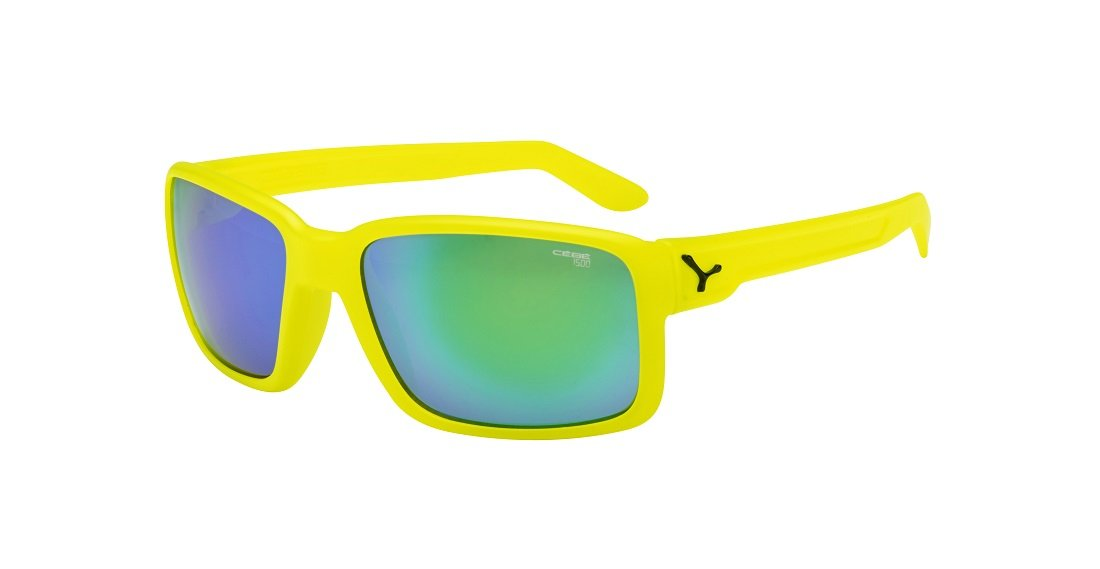 Cebe Dude Sunglasses (1500 Fm Green Lens Neon Yellow Frame) atSS4Kj5F
