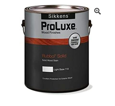 1-gal. White Solid Rubbol Exterior Wood Finish (Sikkens Rubbol Solid Stain)