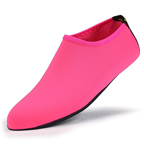 Renxingli Women Men Fins Flexible Scuba Boot Shoes Anti-Slip Diving Sock Water Sports Beach Socks Shoes Purple M (Womens Diving Youth Arch)