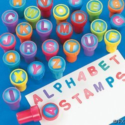 26 pc Plastic Alphabet Stampers ~ one of each letter -