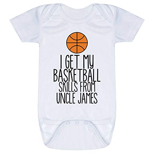 Basketball Baby & Infant Onesie | I Get My Skills from | Black | One Piece NB -