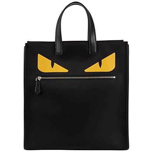 Bag Fendi Red (Fendi Men's Monster-Creature Nylon Tote 'Monster' Front-Zip Flat-Handle Nylon Tote Bag Black)