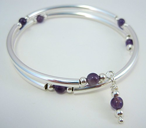 amethyst-silver-plated-metal-memory-wire-wrap-bracelet-by-artsparadis
