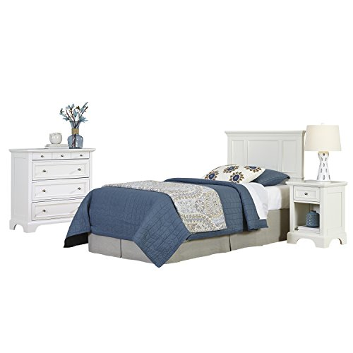 home styles naples twin headboard night stand and chest white