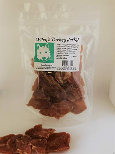 - Wiley's Turkey Jerky Human-Grade Healthy Dog Treats Produced and Sourced in The USA (2-Pack of 4 oz. Bags)