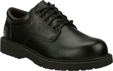 MENS SKECHERS SAVANT OXFORD SLIP RESISTANT WORK BOOTS BLACK SIZE 14